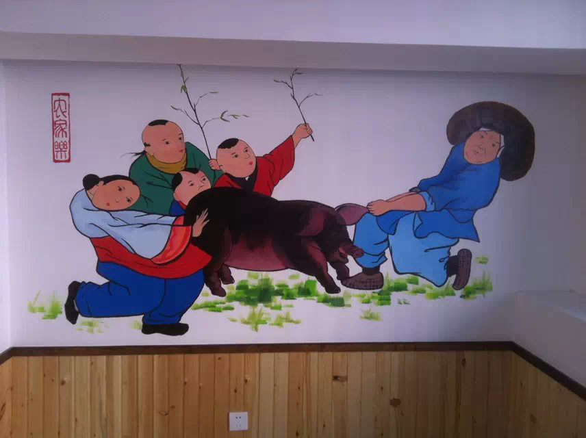 常看到餐厅手绘墙,手绘真的很流行吗?
