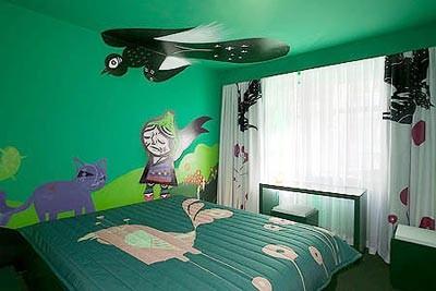 现代家居中的墙体彩绘