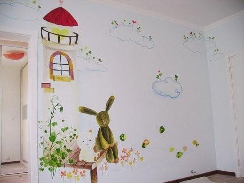 怎样让手绘墙改变空间的巨细
