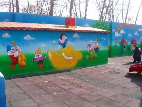 南昌涂鸦画画,南昌幼儿园墙面涂鸦,南昌古建筑彩绘,南昌彩绘古建筑