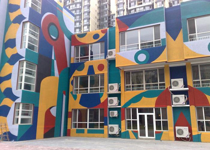 南昌外墙彩绘,南昌幼儿园外墙彩绘,南昌3d墙绘,南昌墙上写字