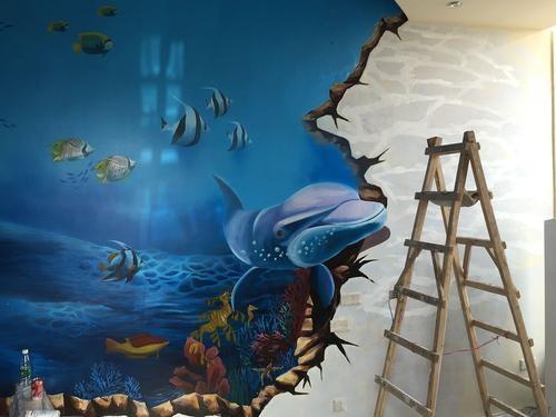 南昌3d涂鸦,南昌餐馆墙体彩绘,南昌外墙绘画,南昌手绘墙壁画