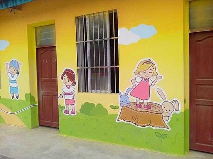 南昌幼儿园涂鸦墙,南昌墙体画画,南昌绘画公司,南昌古建绘画