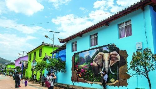 南昌墙画彩绘,南昌墙体绘画公司,南昌新农村墙体彩绘,南昌墙绘涂鸦