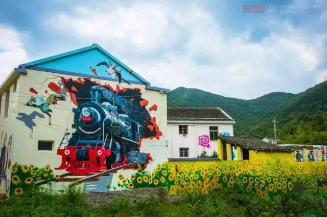 南昌美丽乡村墙体彩绘,南昌墙绘墙体彩绘,南昌3d画墙绘