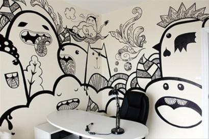 南昌背景墙墙体彩绘,南昌手绘背景墙,南昌背景墙手绘,南昌壁画涂鸦
