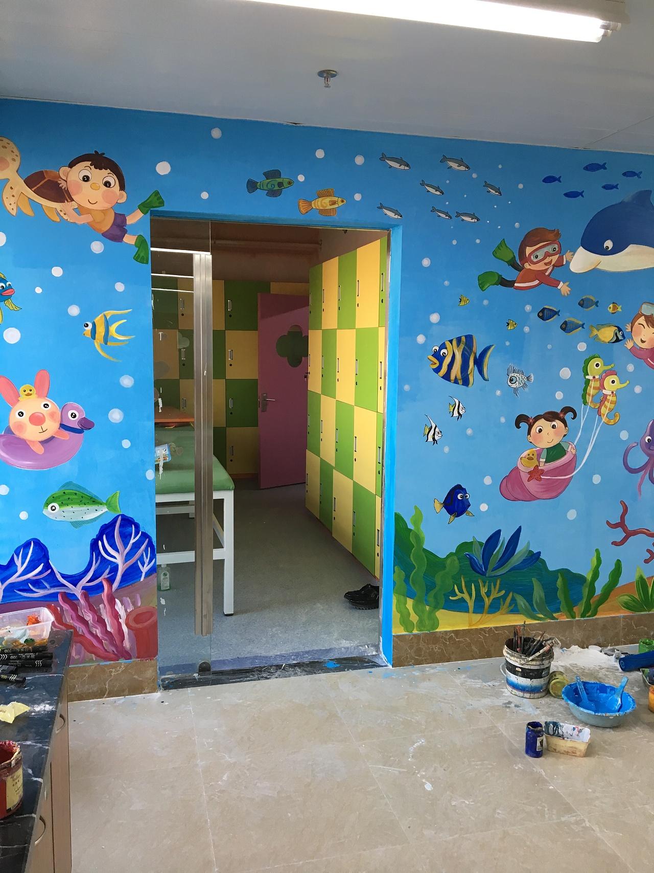 南昌喷绘墙面,南昌墙面喷绘,南昌涂鸦壁画,南昌幼儿园彩绘墙画